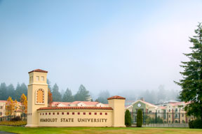 Humboldt State University Monument Entry