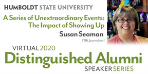 Distinguished Alumni - Susan Seaman photo and ad