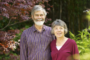 Jerry and Gisela Rohde standing next to one another