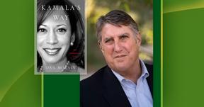 photo of Dan Morain and Kamala Harris' book.