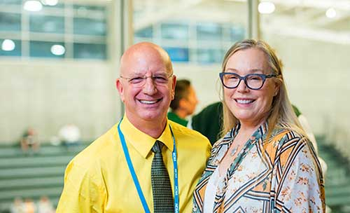 Robin Meiggs with husband Scott Heller