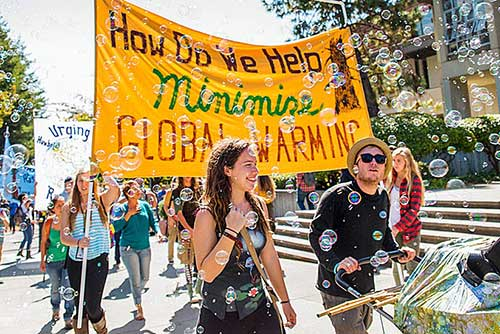 Student-led march about climate change