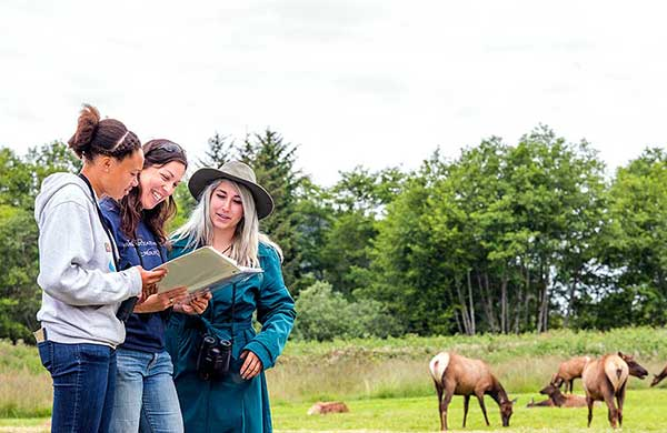 Wildlife Students in the field